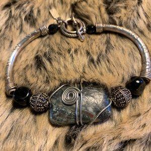 Jewelry - Jasper a sterling silver bracelet.